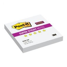 Блок-кубик Post-it Super Sticky 654R-SW,76х76 белый, 90л.