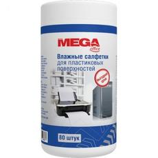 Салфетки ProMega Office в тубе д/пластика 80шт.