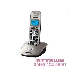 Panasonic KX-TG2511RUN (платиновый) {АОН, Caller ID,спикерфон на трубке,переход в Эко режим одним на