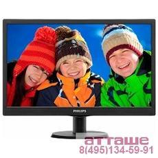 "LCD PHILIPS 18.5"" 193V5LSB2 (10/62) черный {TN (LED), 1366x768, 5ms, 250cd/m2, 1 000:1, (700:1), 90/"