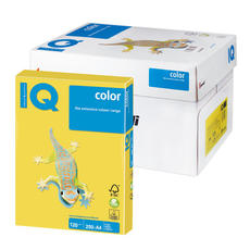 Бумага IQ color А4, 120 г/м, 250 л., интенсив канареечно-желтая CY39 ш/к 07036