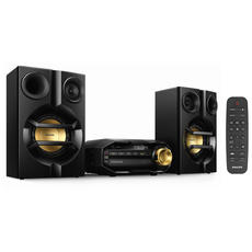Музыкальный центр PHILIPS FX10/12, MP3-CD, CD-R/RW, FM-тюнер,mini jack 3,5мм, 230Вт,Bluetooth,черный