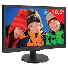 Монитор LED 18.5(47см) PHILIPS 193V5LSB2 1366x768/TN+film/16:9/D-Sub/200cd/5ms/чер