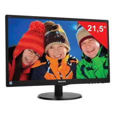 Монитор LED 21.5(55см) PHILIPS 223V5LSB2 1920x1080/TN+film/16:9/D-Sub/200cd/5ms/чер