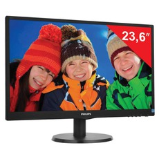 Монитор LED 23.6(60см) PHILIPS 243V5LSB 1920x1080/TN+film/16:9/DVI/D-Sub/250cd/5ms/чер
