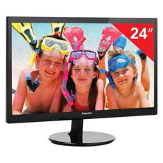 Монитор LED 24(61см) PHILIPS 246V5LSB 1920x1080/TN+film/16:9/DVI/D-Sub/250cd/5ms/чер