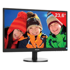 Монитор LED 23.6(60см) PHILIPS 243V5LAB 1920x1080/TN+film/16:9/DVI/D-Sub/250cd/5ms/чер