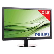 Монитор LED 21.5(55см) PHILIPS 226V4LAB 1920x1080/TN+film/16:9/DVI/D-Sub/250cd/5ms/чер