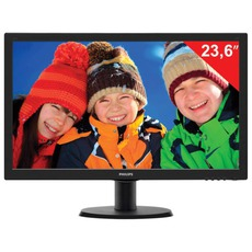 Монитор LED 23.6(60см) PHILIPS TN+film/16:9/DVI/HDMI/D-Sub/250cd/1920x1080/5ms/чер 243V5LHAB
